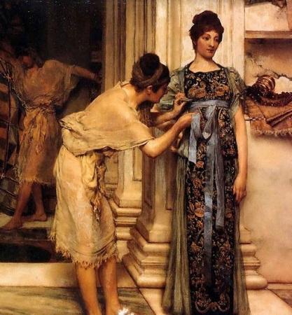 """Sir Lawrence Alma-Tadema  """"The Frigidarium,"""" 1890 (Public Domain)"""
